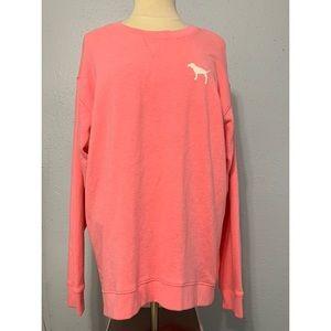 PINK Victoria's Secret Sweatshirt Hot Pink Large